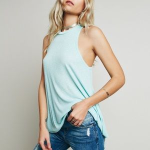 "Brand New Free People ""Mock Me"" Tank in Turquoise"